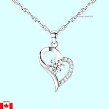 925 Silver Popcorn Necklace + Love Heart Shape 18kpg Pendant Cubic Zirconial