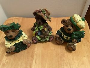 St Patrick's Day Collectible Bear Figurines 3 total