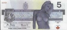 2017 Canada 🍁🍁 $5 FANTASY GIRL SEXY Note 🍁🍁 POLYMER 🍁 MULTIBUY SAVINGS