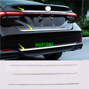 3pcs Stainless Chrome Tail door+Rear bumper Trim FOR 2019 2020 Toyota Avalon