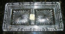 Vintage BLEIKRISTALL Crystal Jewelry Tray over 24% PbO made in West Germany EX