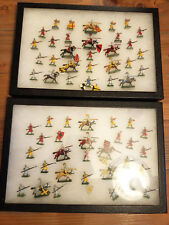Painted Scruby 20mm/1 Inch Medieval Knights Agincourt Two Cases