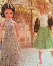 Dolls Clothes Big Night Out, ( Fashion dolls size Barbie etc)  Knitting Pattern