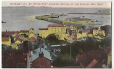 Guernsey; St Peter Port Showing Arrival Of English Mail Boat PPC, Unposted
