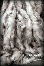 FUR ACCENTS Exotic Rabbit Faux Fur Throw Blanket Black, Gray and White 4' x 5'