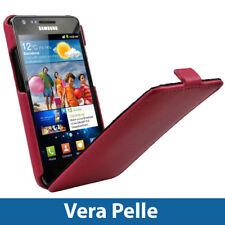 Rosa Vera Pelle Custodia per Samsung Galaxy S2 II i9100 Case Cover Protezione