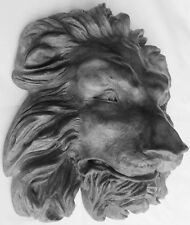Lion Head Folk Art Sculpture Is a Regal Classic, Original Signed Claybraven