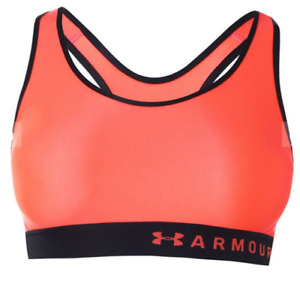 UNDER ARMOUR Womens Orange Vanish Asymmetrical Sports Bra Ladies UK 12 BNWT