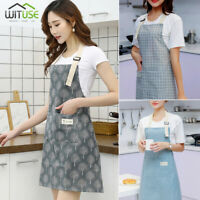Apron For Men Women Adjustable Bib Kitchen Cooking Aprons Dress With Pockets CC