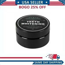 ORGANIC COCONUT ACTIVATED CHARCOAL NATURAL TEETH WHITENING POWDER USA VALUE