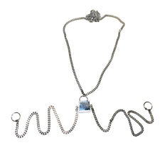 (Lock) Half Body Chain Necklace to Nipple Surgical Steel 316l Nickle Free
