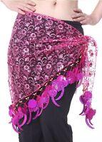 Belly Dance Dancing Hip Scarf Costume Belt 5colors Shawl Dancewear Dress