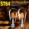 E27 4/8/12/16W Retro Edison Filament LED Bulb Vintage Ball Warm/Cool Light Lamp