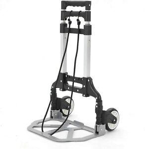 80kg Heavy Duty Folding Foldable Hand Truck Barrow Cart Wheel Trolley Load