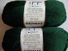Bernat Satin yarn, Forest Pine, lot of 2 (200 yds each)