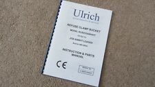 ULRICH REFUSE CLAMP BUCKET INSTRUCTION & PARTS MANUAL AS FITTED TO JCB 426 BHT