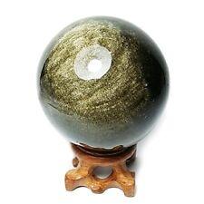 "Golden Obsidian Crystal Spheres, 55mm / 2.2"" Diameter,Rare Protective Stone Ball"