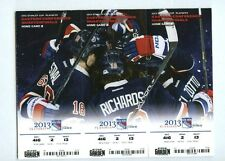 WASHINGTON CAPITALS/NY RANGERS 2013 NHL PLAYOFFS ROUND 1 TICKET SHEET - NYR WINS