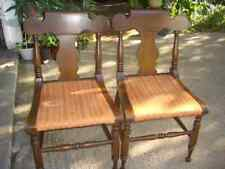 Lot 2 Consider Willett side dining chairs; Lyre urn back; sturdy solid; cherry?