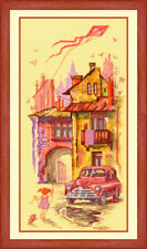 """Counted Cross Stitch Kit Golden Hands - """"Patio of childhood"""""""