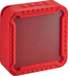Insignia - Portable Bluetooth Speaker - Red - NS-CSPBTF1-R