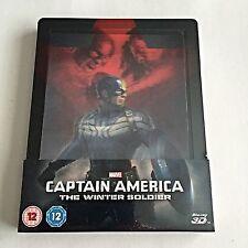 Marvel Captain America The Winter Soldier (3D+2D) Steelbook [U.K.] Lenticular!