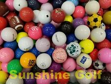 24 Novelty Miscellaneous Mixed Grade Golf Balls - FREE SHIPPING
