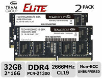 32GB Kit DDR4 2666MHz PC4-21300 SODIMM Laptop Memory RAM Module Upgrade 1.2v