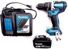 "New Makita Brushless 18V XPH12 1/2"" Hammer Drill, (1) BL1830 Battery, 1) Charger"