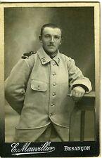 PHOTO CDV E. Mauvillier Besançon militaire poilu 42 ème régiment 14-18