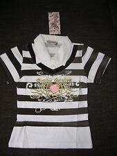 Haut / tee-shirt / top à col chemise effet 2 en 1 rayé fille / 4 ou 6 ans / Neuf