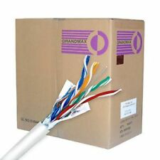 CAT 5 CAT 5E BULK ETHERNET CABLE 1000 FT SOLID SHIELDED WHITE