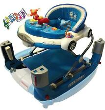 Br New Musical Cool Car Baby Walker Rocker 4in1 w Stoppers and Toys Play Centre