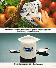 PUBLICITE ADVERTISING  1976  DANONE   yaourts