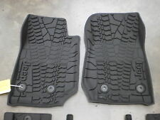 2 door Jeep Wrangler JK HEAVY DUTY rubber tread slush mat set 2014 2015 82213861