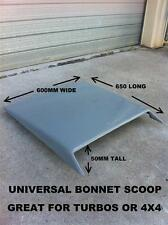 UNIVERSAL FIBREGLASS BONNET SCOOP 4X4  HILUX NISSAN OR TOYOTA OR TURBOED CARS