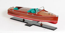 "Chris Craft Runabout Wood Model 32"" Classic Speed Boat New"