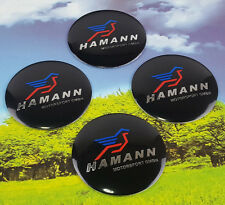 4Pcs Black Metal Wheel Center Label Hub Cap Emblem Sticker HAMANN Fit For BMW