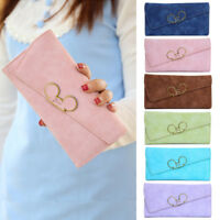 Cute Women PU Leather Clutch Wallet Long Card Holder Purse Box Handbag Bag