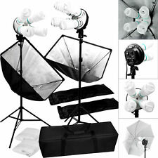 Studio 2000w Video Photography Softbox Stand Continuous Lighting Kit MA