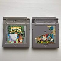 Kirby's Dream Land 1 & 2 Authentic Original OEM Nintendo Gameboy Bundle Lot USA