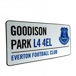 EVERTON FC OFFICIAL CLASSIC METAL STREET SIGN - FOOTBALL GIFT, GOODISON PARK