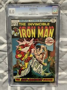 IRON MAN #54 CGC 8.0 1ST APPEARANCE MOONDRAGON WHITE PAGES