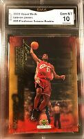Lebron James ROOKIE 2003-04 UD Collectibles Freshman Season Gem mint 10 RC #20