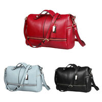 Lady Fashion PU Leather Handbag Pillow Shape Shoulder Crossbody Bag Tote Purse