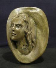 2005 Untitled Wall Relief Sculpture Bust of Woman Kegham Tazian Armenian Artist