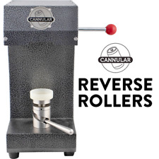 Cannular Bench Top Can Seamer (REVERSE ROLLERS) - w/ Free Battery Power Supply