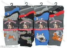 6 Pairs Ladies Womens Novelty Design Socks Cotton Blend DESIGNER Adults 4-7 Dogs