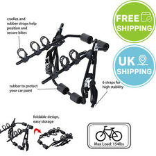 3 Bicycle Bike Car Cycle Carrier Rack Hatchback Rear Mount Mounted Universal Fit