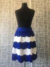 Rinascimento Designer China Blue White Mini Layered Skirt XS 8
